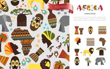 Flat African Ethnic Concept