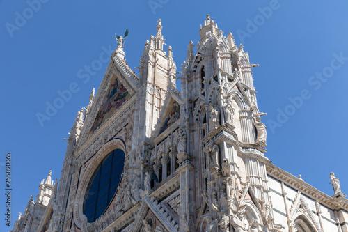 Fotografie, Obraz  Panoramic facade of Siena Cathedral (Duomo di Siena)