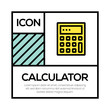 CALCULATOR ICON CONCEPT