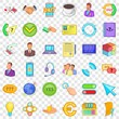 Good connection icons set. Cartoon style of 36 good connection vector icons for web for any design