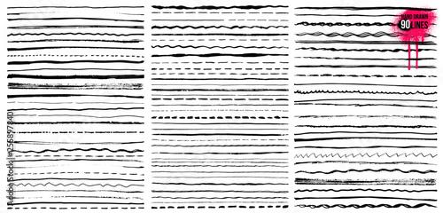 Set of Hand drawn doodle lines Tapéta, Fotótapéta