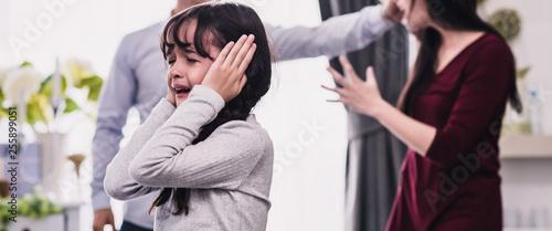 Social Problem Domestic Violence Family, Injustice Aggression Lifestyle, Relations Problem Family Slika na platnu