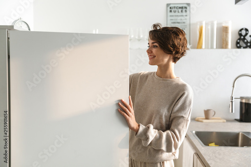 Valokuva  Happy young woman standing