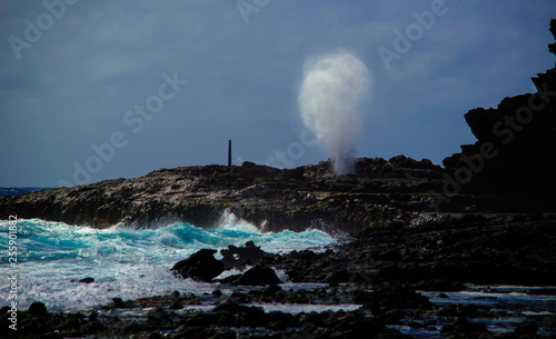Fotografie, Obraz  Halona Blowhole from Sandy Beach Park