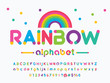 Vector of modern colorful alphabet design