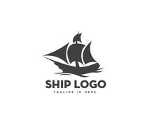 Ship Drawing Marine Logo Desig...
