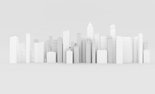Abstract City Background With Skyscrapers