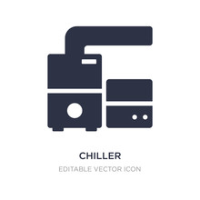 Chiller Icon On White Background. Simple Element Illustration From Furniture And Household Concept.
