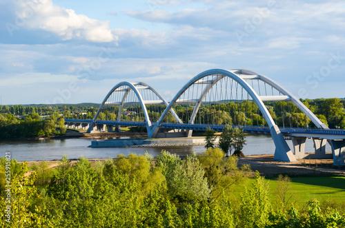 Fotomural Two-span road bridge above Vistula river near to the Torun, Poland