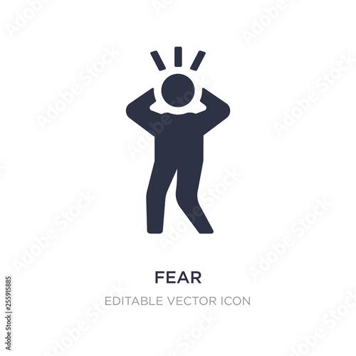 fear icon on white background Tablou Canvas