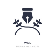 Will Icon On White Background. Simple Element Illustration From Miscellaneous Concept.