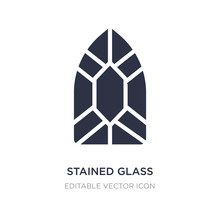 Stained Glass Window Icon On White Background. Simple Element Illustration From Miscellaneous Concept.