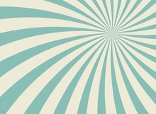 Sunlight Wide Horizontal Background. Faded Blue And Beige Color Burst Background.