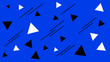 Leinwanddruck Bild - Abstract blue background with geometric shapes. Triangles wallpaper