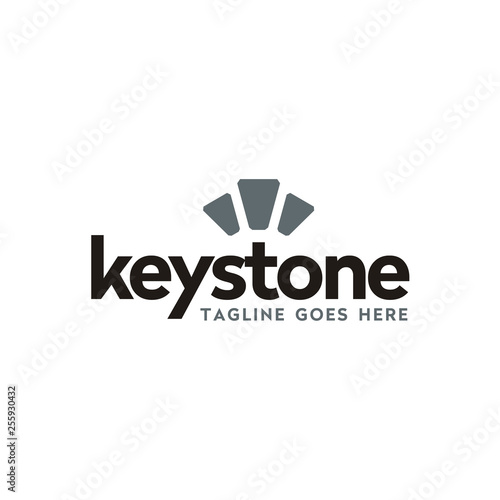 modern typography keystone logo design Canvas-taulu