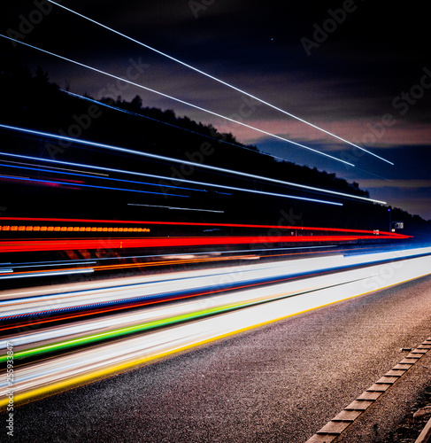 long exposure light trails Fototapete