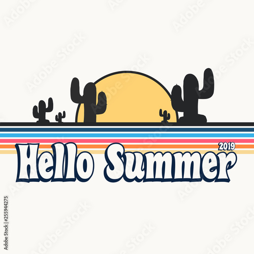 Garden Poster Retro sign retro hello summer poster