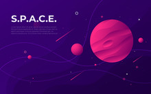 Colorful Outer Space Abstract Background, Design, Banner, Artwork.