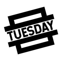 Tuesday Black Stamp