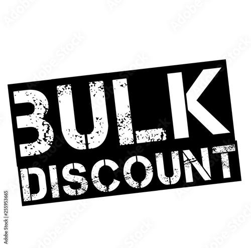 Fotografie, Obraz  bulk discount stamp on white