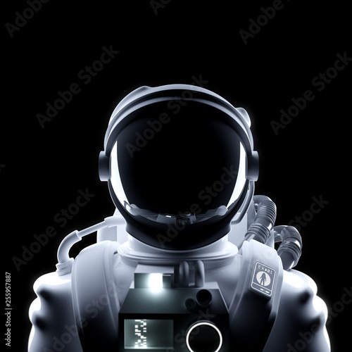 Fotografie, Tablou Futuristic Astronaut Space Suit Portrait
