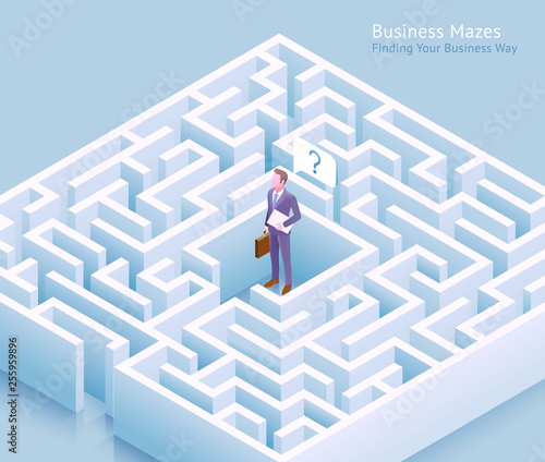 Fotografía Business maze conceptual design