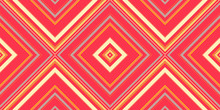 Necktie Geometric Pattern Seamless In Red Gold Shades