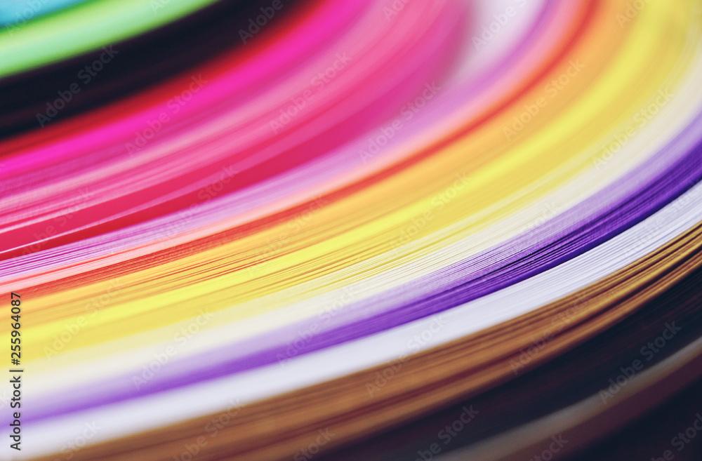 Fototapety, obrazy: Rainbow paper abstract macro
