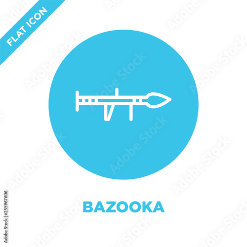 bazooka icon vector from military collection Wallpaper Mural
