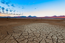 Cracked Earth And Licancabur V...