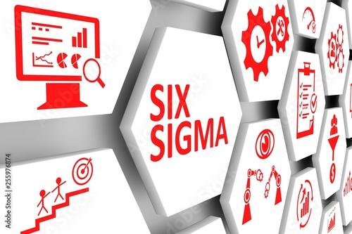 SIX SIGMA concept cell background 3d illustration Tableau sur Toile