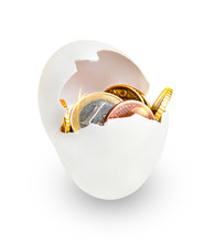 Chicken Egg Shell Filled With ...