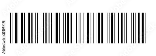 Fotomural  Realistic barcode. Barcode icon. Vector illustration.