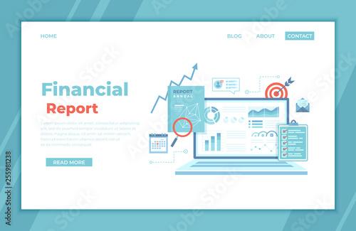 Financial Report Wallpaper Mural
