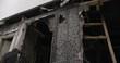 Burnt Out Home Exterior Front Door - Tilt down