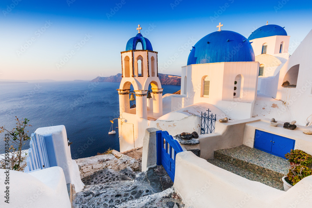Fototapety, obrazy: Santorini, Greece. Oia village.