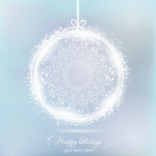Winter Background Of A Christm...
