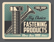 Bolt And Screw, Fastening Tools, Vector