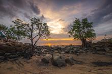 Panorama Sunset Of  Batam Bintan Wonderful Indonesia
