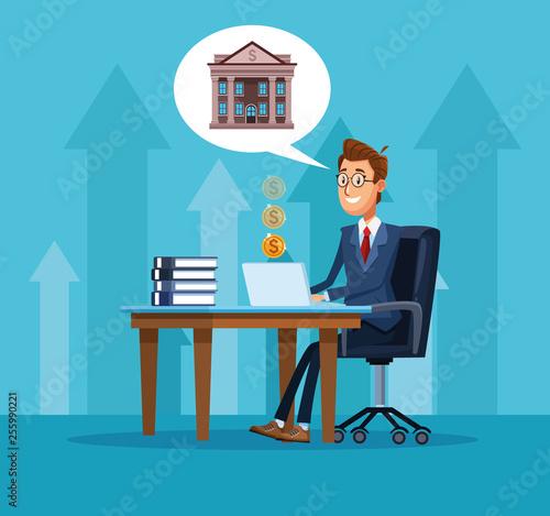 Fotografía Businessman banker cartoon