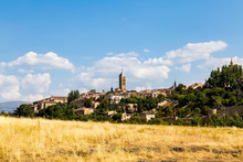 View Of Segovia Old Town In Su...
