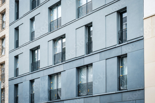 Fotografie, Obraz  facade view of new residential building , vacant flats almost finished