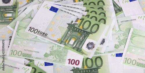 Fotografía  europe euros banknote of hundreds