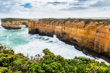 Loch Ard Gorge Near The Twelve Apostles On A Windy Spring Day On The Great Ocean Road In Victoria, Australia