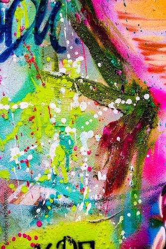 Arrière plan tâches de couleurs, projections de peinture Canvas-taulu