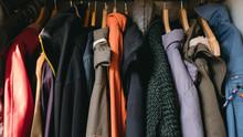 Overcoats On Hangers