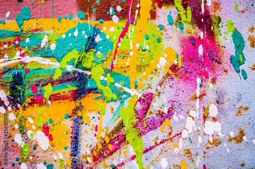 Fényképezés  Arrière plan tâches de peinture multicolore