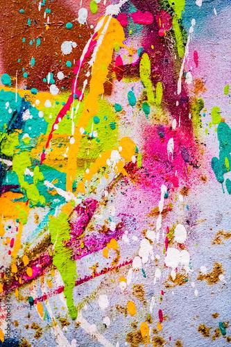 Fotografia, Obraz  Arrière plan tâches de peinture multicolore