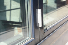 Close Up On Conservatory Glass Door Door Hinge