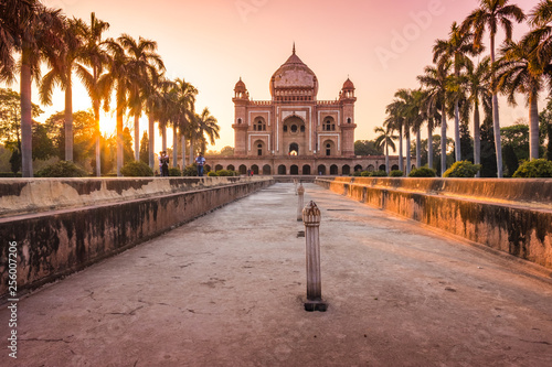 Fotografie, Obraz  Beautiful safdarjung mausoleum in new delhi - india during the sunset